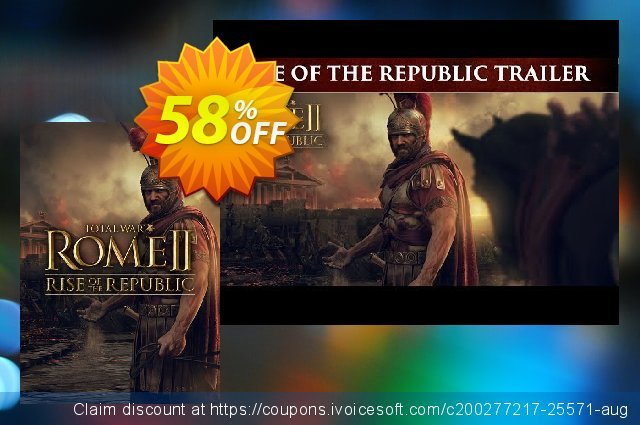 Total War ROME II 2 PC - Rise of the Republic DLC (EU) discount 50% OFF, 2021 Daylight Saving promo sales