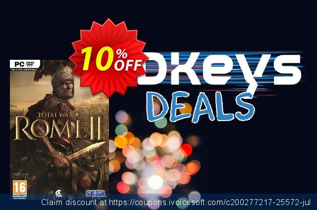 Total War Rome II 2 (PC) discount 10% OFF, 2021 Women Day promo