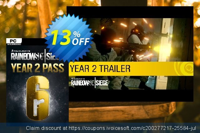 Tom Clancys Rainbow Six Siege Year 2 Pass PC (US) discount 13% OFF, 2021 New Year's Weekend promotions