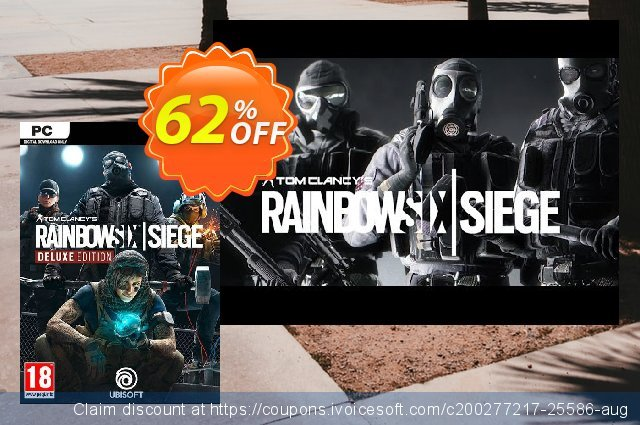 Tom Clancy's Rainbow Six Siege Deluxe Edition PC discount 50% OFF, 2020 Halloween offering sales