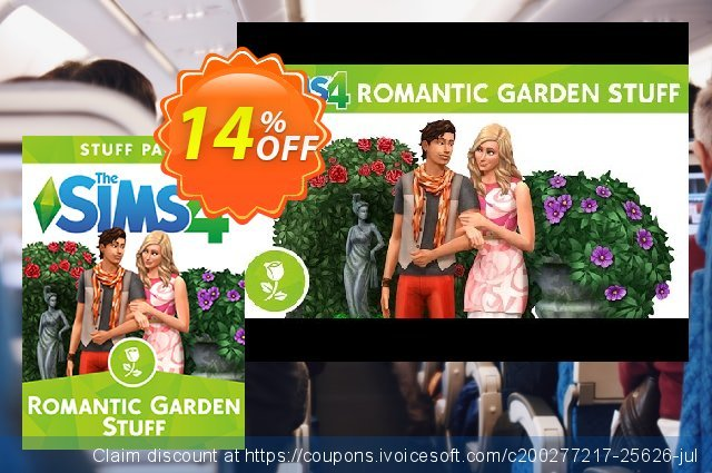 The Sims 4 - Romantic Garden Stuff PC discount 10% OFF, 2020 Halloween offering sales