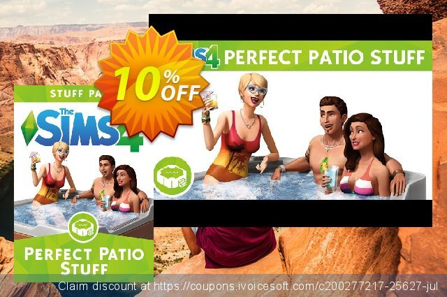 The Sims 4 - Perfect Patio Stuff PC discount 10% OFF, 2020 Thanksgiving offering sales