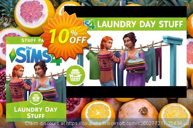The Sims 4 - Laundry Day Stuff PC discount 10% OFF, 2020 Thanksgiving Day offer