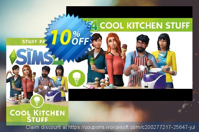 The Sims 4 - Cool Kitchen Stuff PC discount 10% OFF, 2020 Black Friday offering sales
