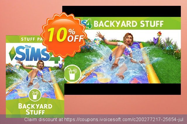The Sims 4 - Backyard Stuff PC discount 10% OFF, 2020 Thanksgiving discount