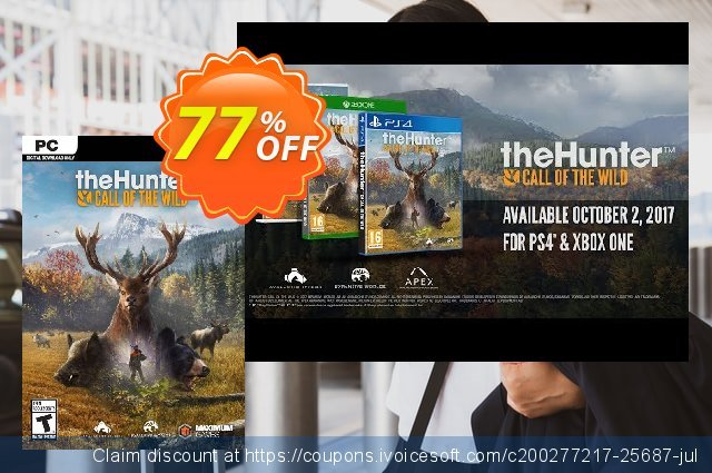 The Hunter Call of the Wild - 2019 Edition PC (EU) 最 优惠券 软件截图