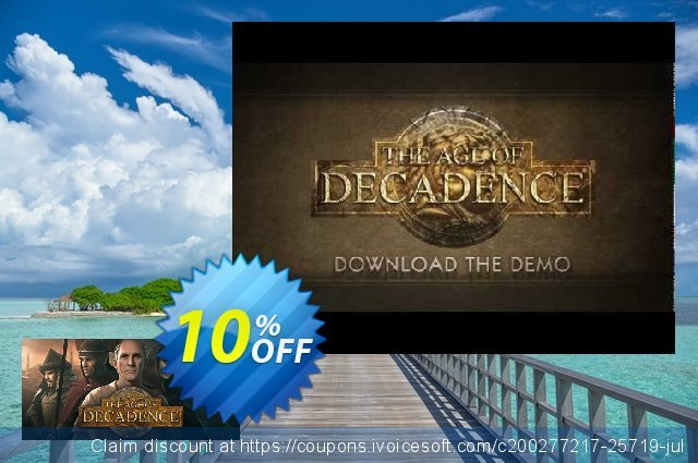 The Age of Decadence PC discount 10% OFF, 2020 Xmas offering sales