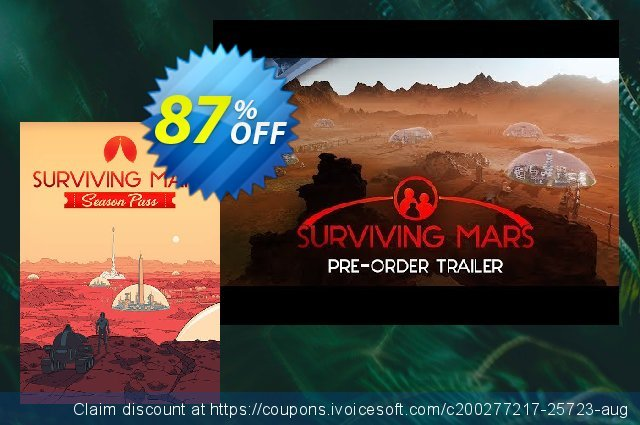 Surviving Mars Season Pass PC discount 67% OFF, 2020 Xmas Day offering sales