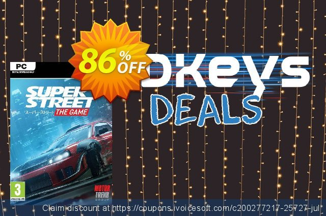 Super Street The Game PC discount 68% OFF, 2020 Thanksgiving Day sales