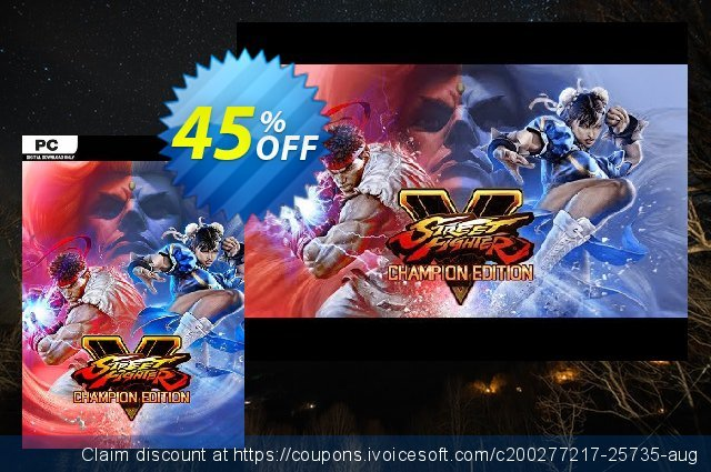 Street Fighter V 5 PC - Champion Edition Upgrade Kit DLC discount 18% OFF, 2020 Thanksgiving promo