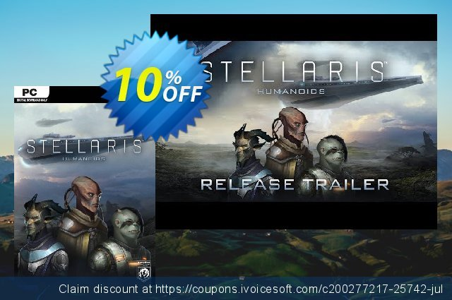 Stellaris PC - Humanoids Species Pack DLC discount 58% OFF, 2020 Thanksgiving Day offering sales