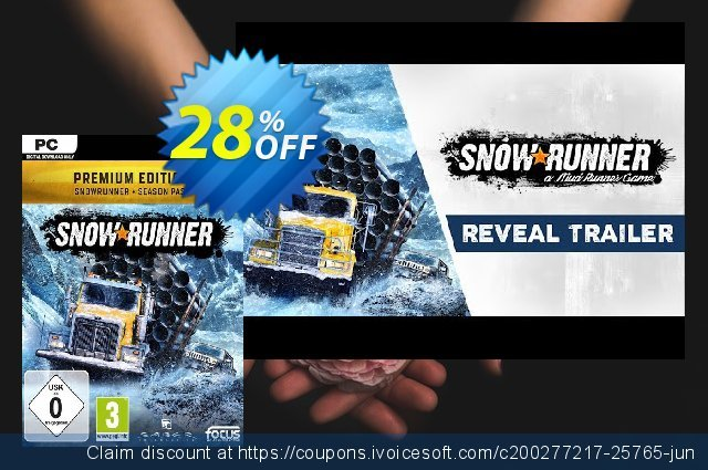 SnowRunner: Premium Edition PC discount 10% OFF, 2020 University Student offer offering sales