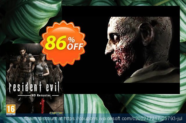 Resident Evil HD Remaster PC discount 10% OFF, 2021 Happy New Year promotions
