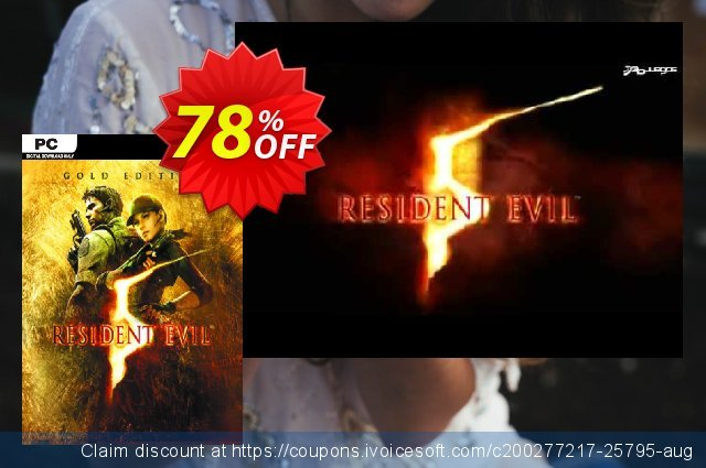 Resident Evil 5 Gold Edition PC discount 65% OFF, 2020 Thanksgiving offering sales