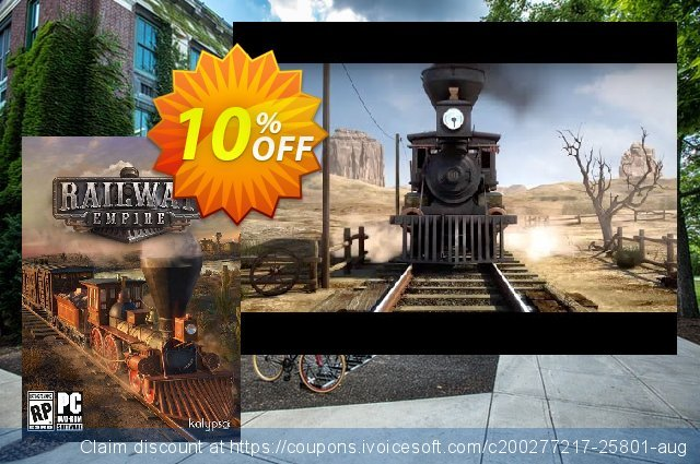 Railway Empire PC discount 10% OFF, 2020 Christmas & New Year promotions