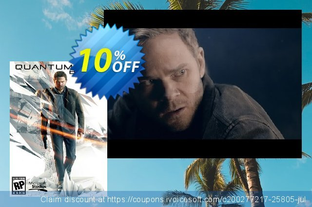 Quantum Break PC discount 10% OFF, 2020 Thanksgiving Day offer