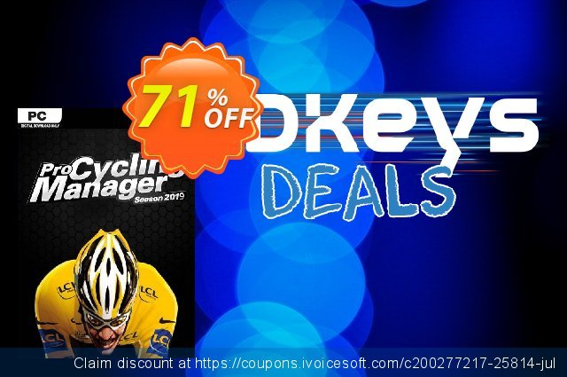 Pro Cycling Manager 2019 PC discount 54% OFF, 2020 Thanksgiving Day offering sales