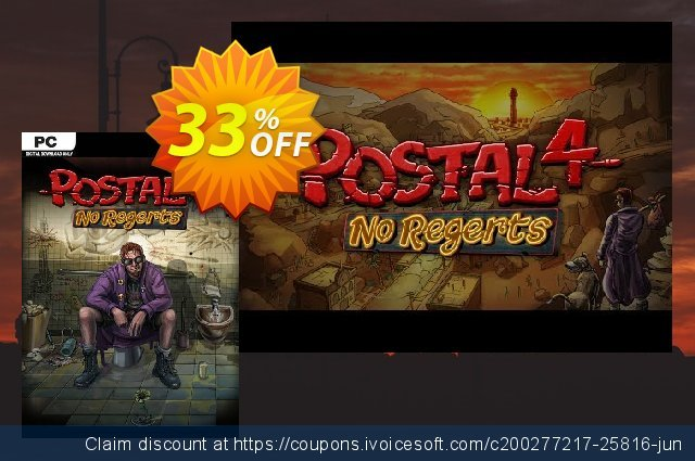 POSTAL 4: No Regerts PC discount 16% OFF, 2020 Thanksgiving offering sales