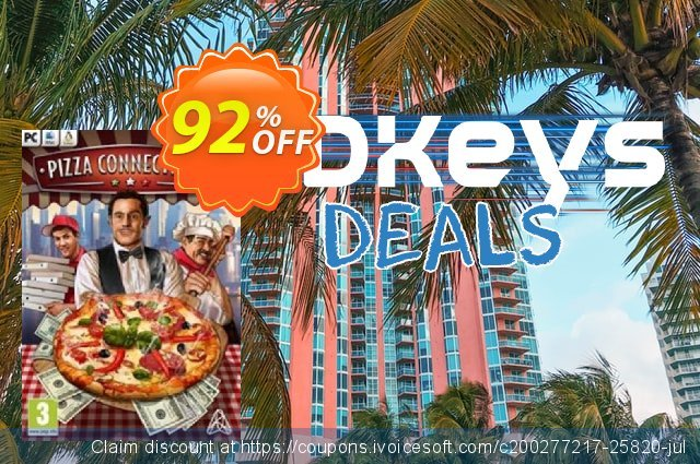 Pizza Connection 3 PC discount 75% OFF, 2020 New Year's Day promotions