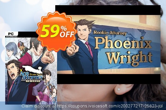 Phoenix Wright: Ace Attorney Trilogy PC discount 57% OFF, 2020 Thanksgiving Day deals
