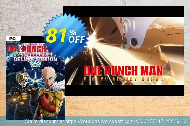 One Punch Man: A Hero Nobody Knows - Deluxe Edition PC  굉장한   매상  스크린 샷