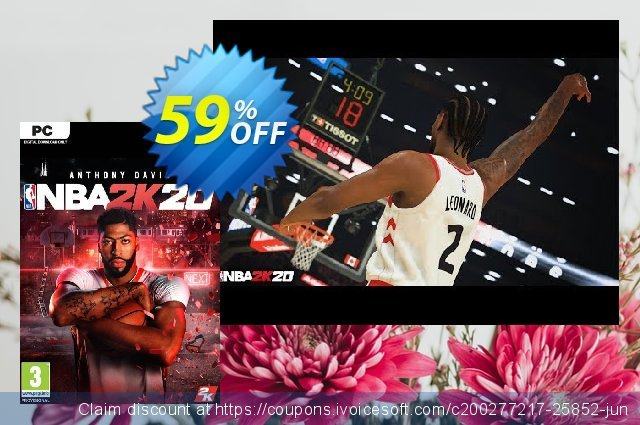 NBA 2K20 PC (EU) discount 59% OFF, 2020 Thanksgiving offering sales