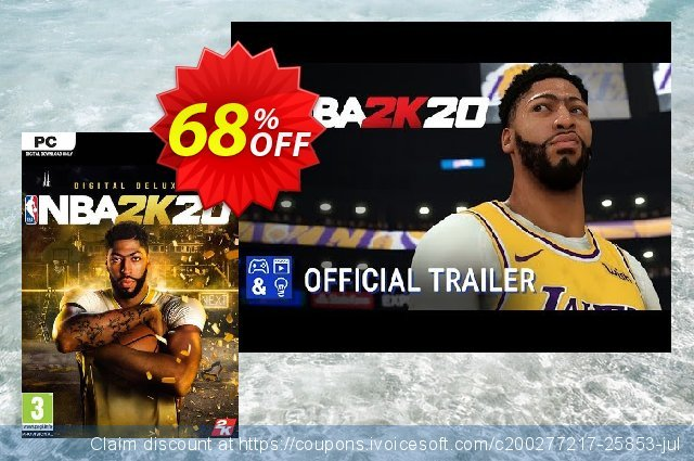 NBA 2K20 Deluxe Edition PC (US) discount 29% OFF, 2020 Thanksgiving Day offering sales