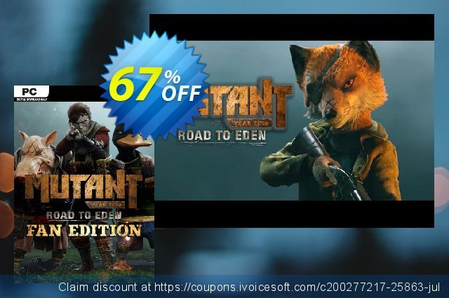 Mutant Year Zero: Road to Eden - Fan Edition PC discount 60% OFF, 2020 Black Friday discount