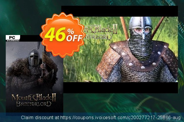 Mount & Blade II 2: Bannerlord PC discount 48% OFF, 2021 Resurrection Sunday promotions