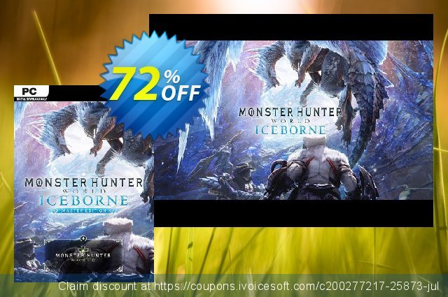 Monster Hunter World: Iceborne Master Edition PC discount 56% OFF, 2020 Thanksgiving offering sales