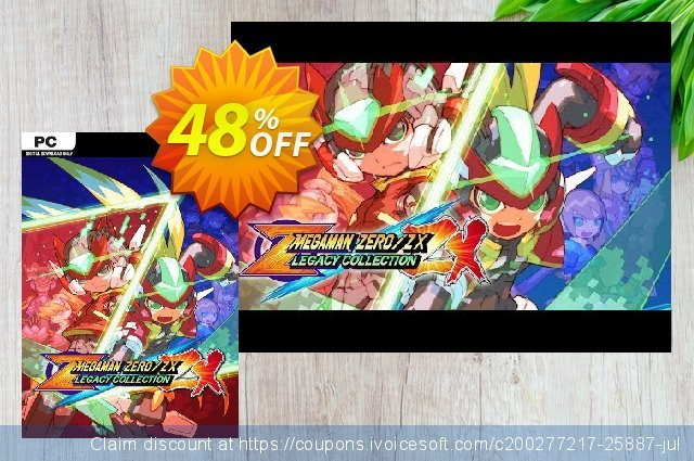 Mega Man Zero/ZX Legacy Collection PC + DLC discount 20% OFF, 2020 Student deals offering deals