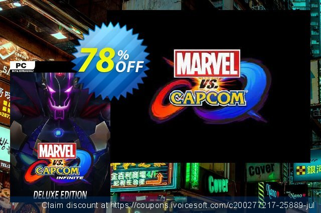 Marvel vs. Capcom Infinite - Deluxe Edition PC discount 78% OFF, 2021 Happy New Year sales