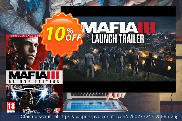 Mafia III 3 Deluxe Edition PC discount 10% OFF, 2020 End year discounts