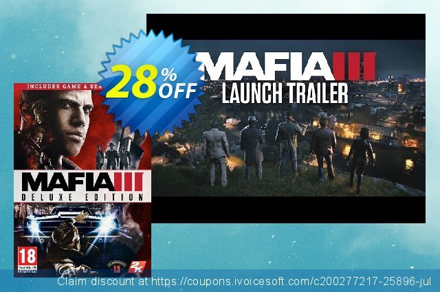 Mafia III 3 Deluxe Edition PC discount 10% OFF, 2020 Year-End promotions
