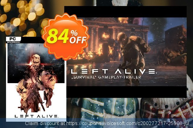 Left Alive PC discount 76% OFF, 2020 Black Friday offering sales