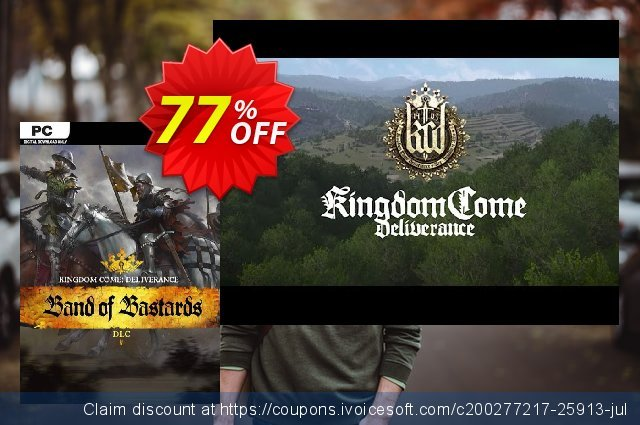 Kingdom Come Deliverance PC – Band of Bastards DLC discount 62% OFF, 2020 Thanksgiving Day offering sales