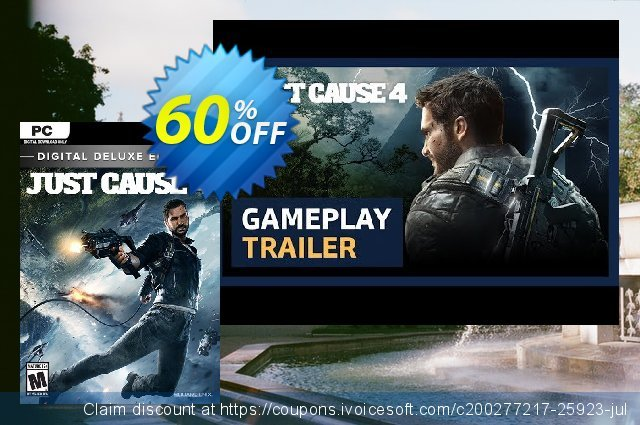 Just Cause 4 Deluxe Edition PC + DLC discount 60% OFF, 2020 Back to School deals offering discount