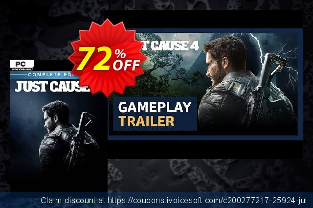 Just Cause 4 - Complete Edition PC discount 68% OFF, 2020 Thanksgiving promo sales