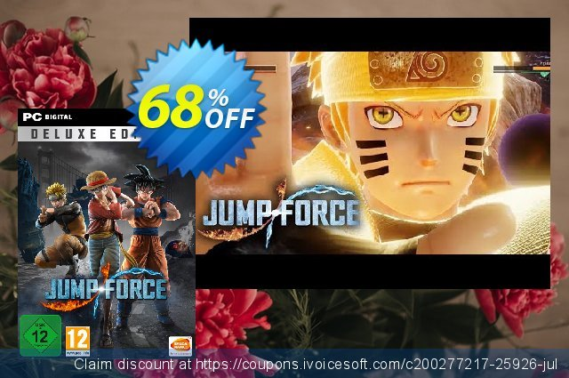 Jump Force Deluxe Edition PC discount 62% OFF, 2020 Black Friday offering sales