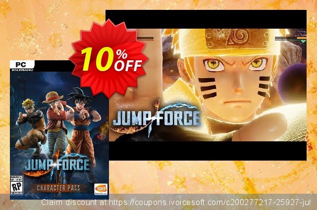 Jump Force - Character Pass PC discount 58% OFF, 2020 Thanksgiving offering sales