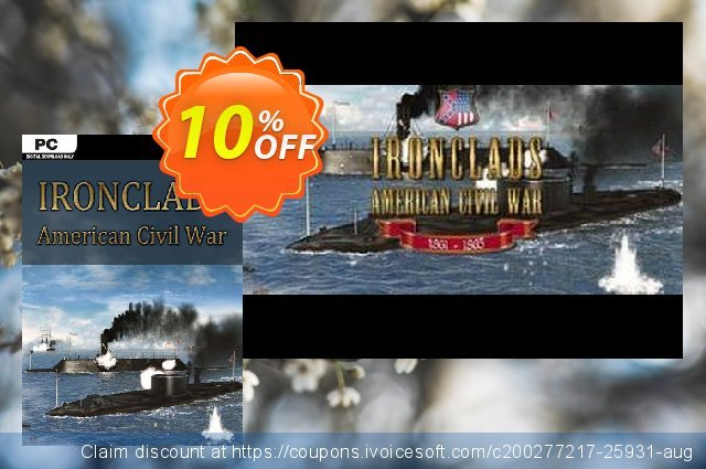 Ironclads American Civil War PC discount 10% OFF, 2020 Fourth of July offering sales