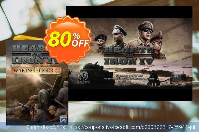 Hearts of Iron IV 4 Waking the Tiger PC discount 73% OFF, 2020 Black Friday promo