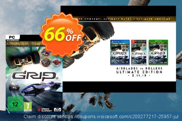 GRIP: Combat Racing - Rollers vs AirBlades Ultimate Edition PC discount 70% OFF, 2020 Thanksgiving offer