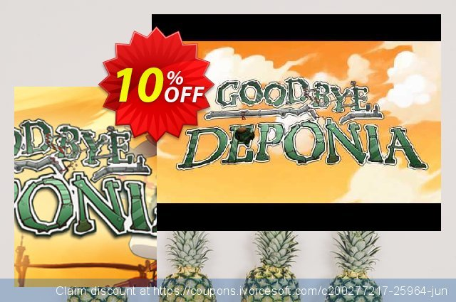 Goodbye Deponia PC discount 10% OFF, 2020 Halloween promo