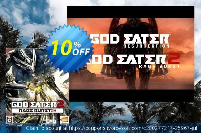 God Eater 2 Rage Burst PC discount 10% OFF, 2020 Thanksgiving Day offering sales