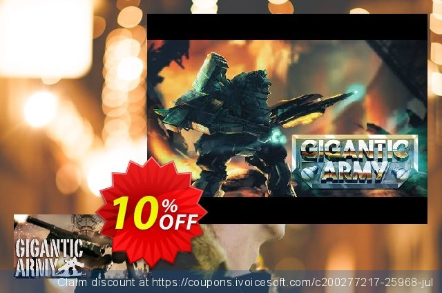 GIGANTIC ARMY PC discount 10% OFF, 2020 Year-End offering sales