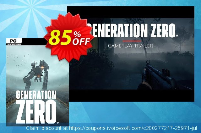 Generation Zero PC discount 53% OFF, 2020 Black Friday offering sales