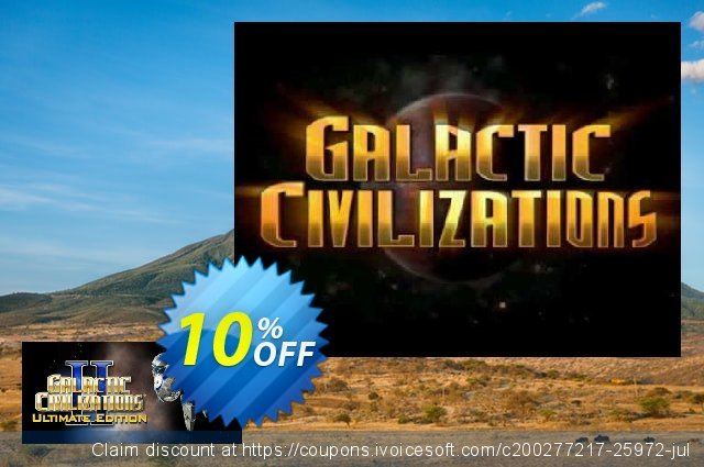 Galactic Civilizations II Ultimate Edition PC 惊人的 促销 软件截图