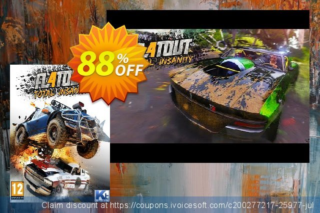 FlatOut 4 Total Insanity PC discount 83% OFF, 2021 Spring offering sales