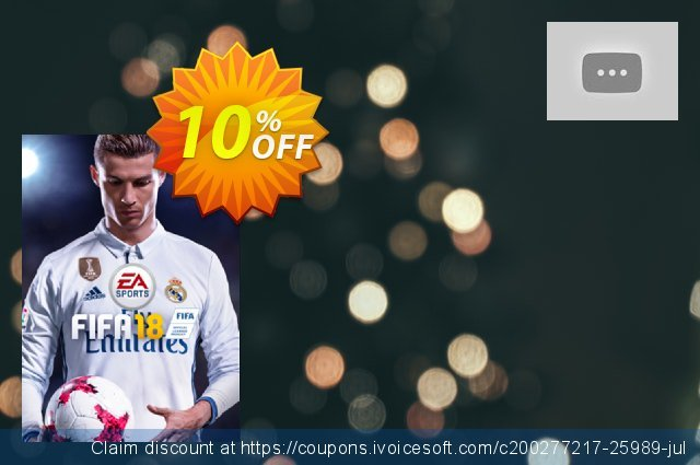 Fifa 18 PC discount 10% OFF, 2020 Black Friday offering sales